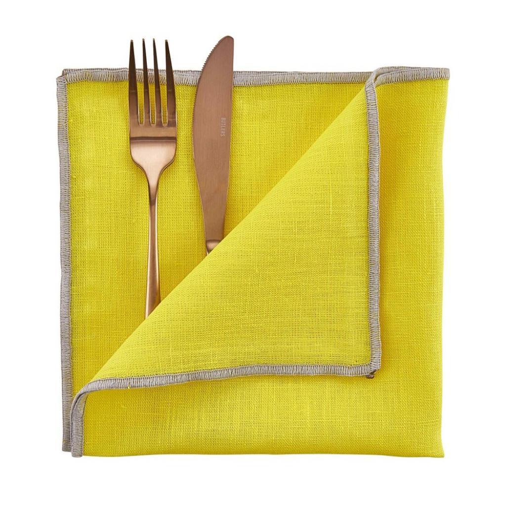 Produktové foto COLOUR THERAPY Látkový ubrousek 42 x 42 cm - žlutá
