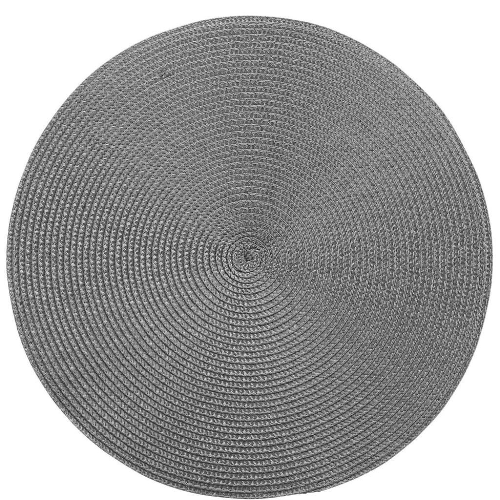 Produktové foto AMBIENTE Prostírání kulaté - tmavě šedá