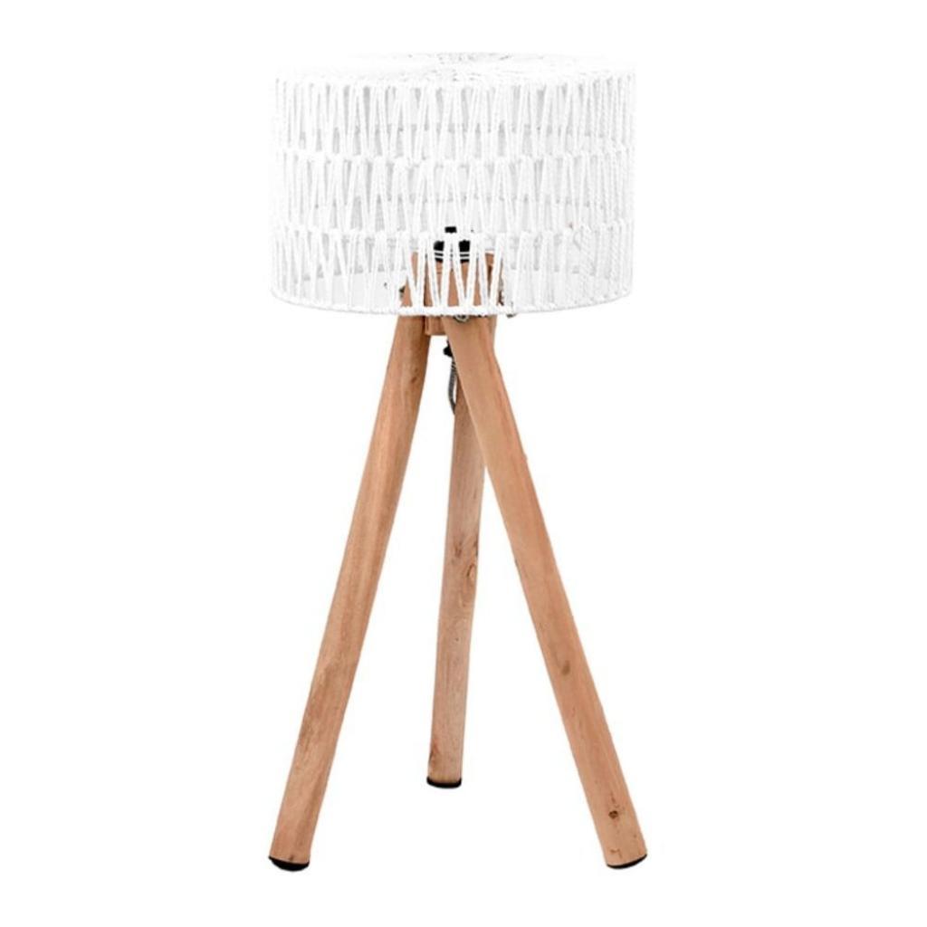 Produktové foto Bílá stolní lampa zmangového dřeva LABEL51 Stripe