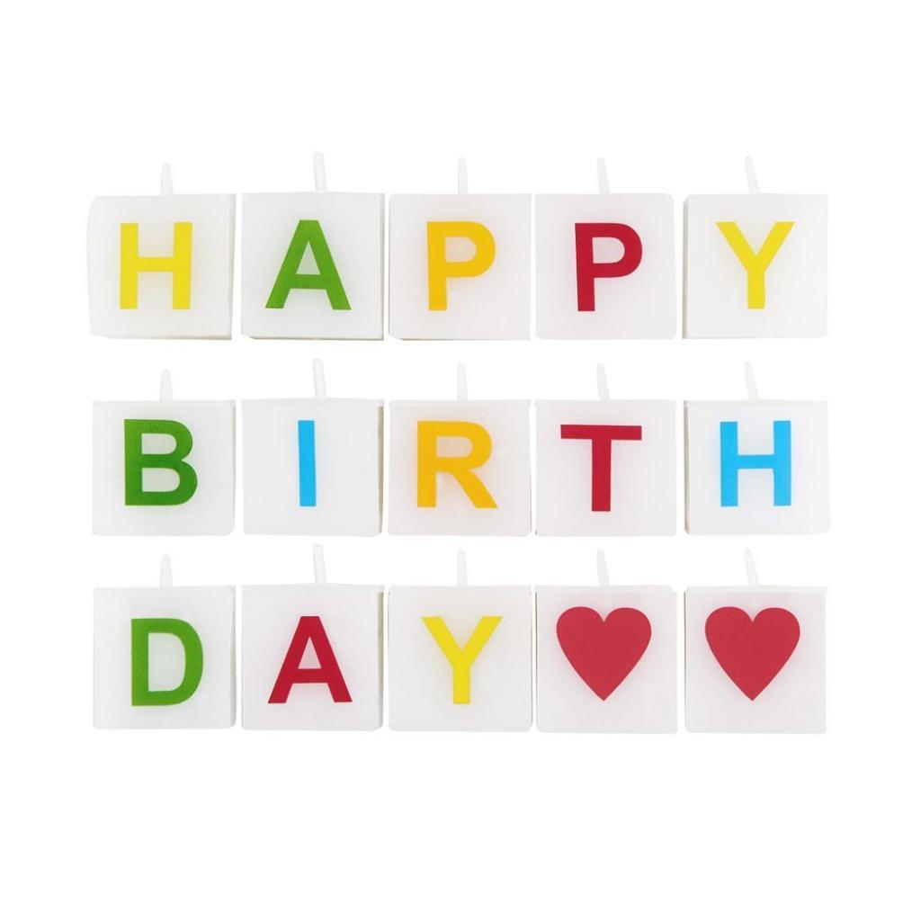 Produktové foto LOVE LETTERS Svíčka Happy Birthday 15 dílů