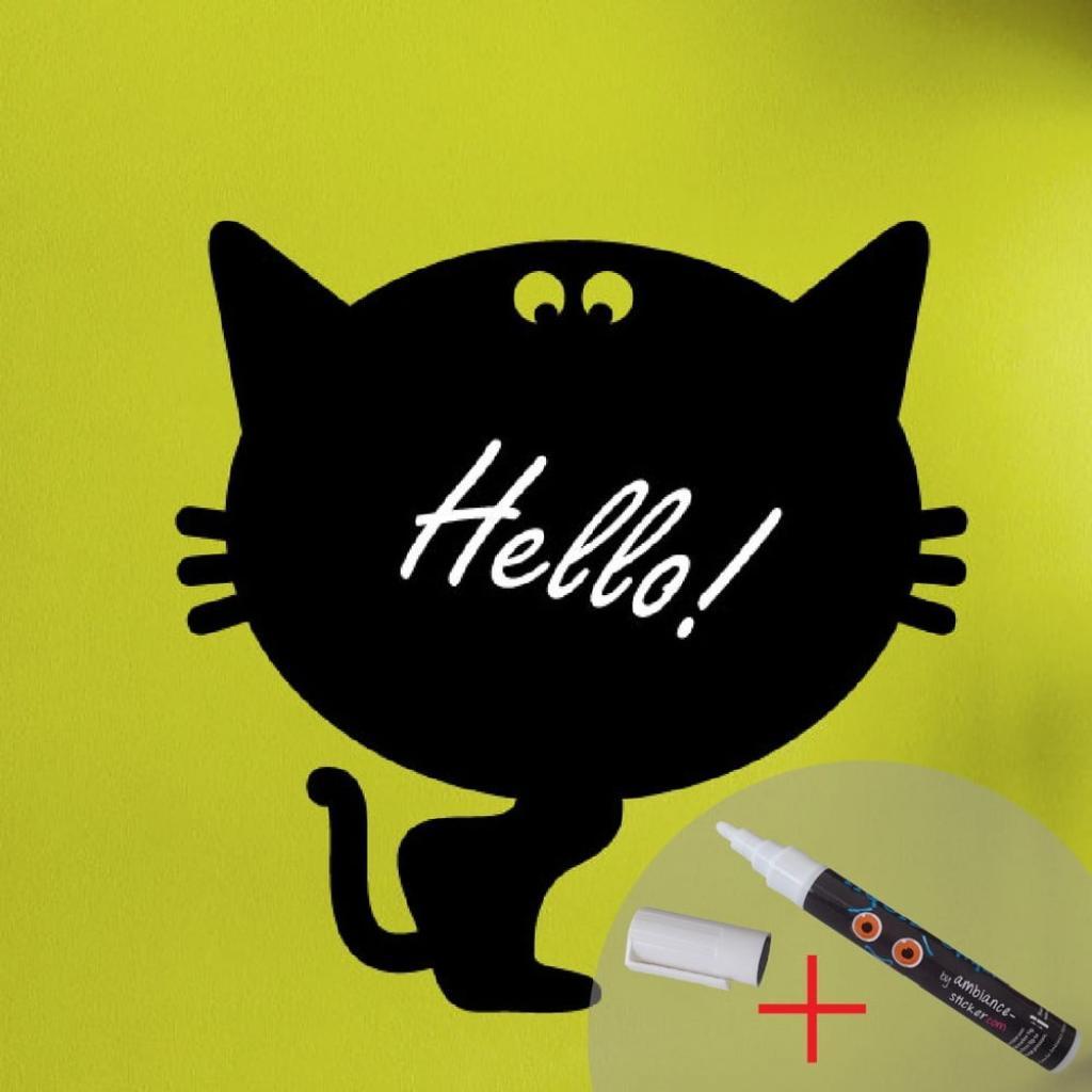 Produktové foto Tabulová samolepka s tekutou křídou Fanastick Cat