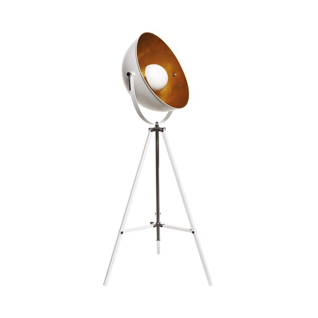 Produktové foto SATELLIGHT Stojací lampa - bílá/zlatá