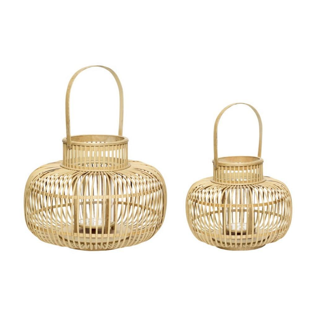 Produktové foto Sada 2 bambusových luceren Hübsch Bamboo