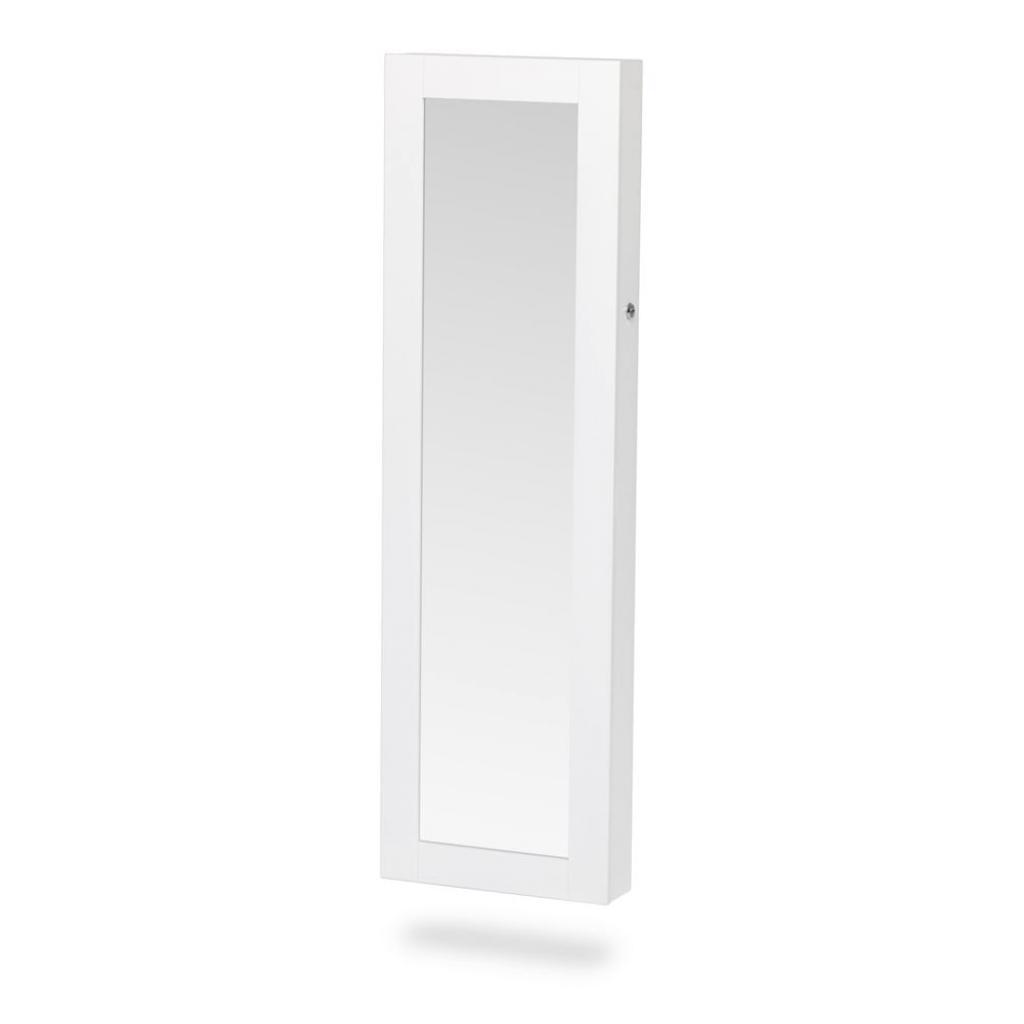 Produktové foto Bílá nástěnná šperkovnice na dveře se zrcadlem Chez Ro Bien