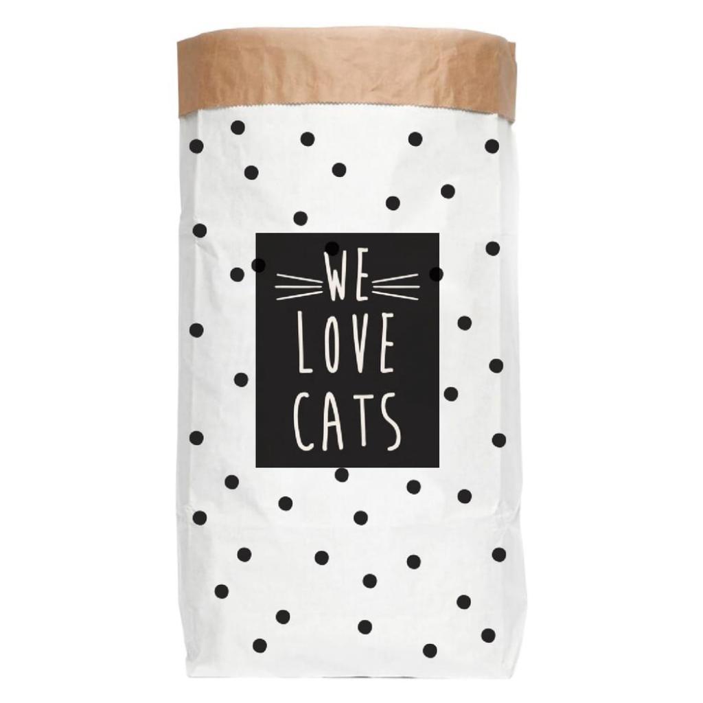Produktové foto Úložný pytel z recyklovaného papíru Really Nice Things Love Cats