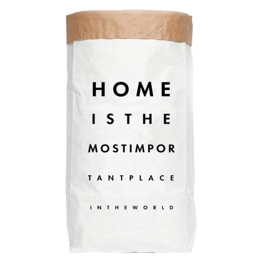 Produktové foto Úložný pytel z recyklovaného papíru Really Nice Things Most Important