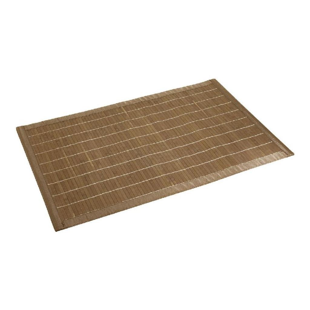 Produktové foto Tmavá koupelnová podložka z bambusu Wenko, 50x80 cm