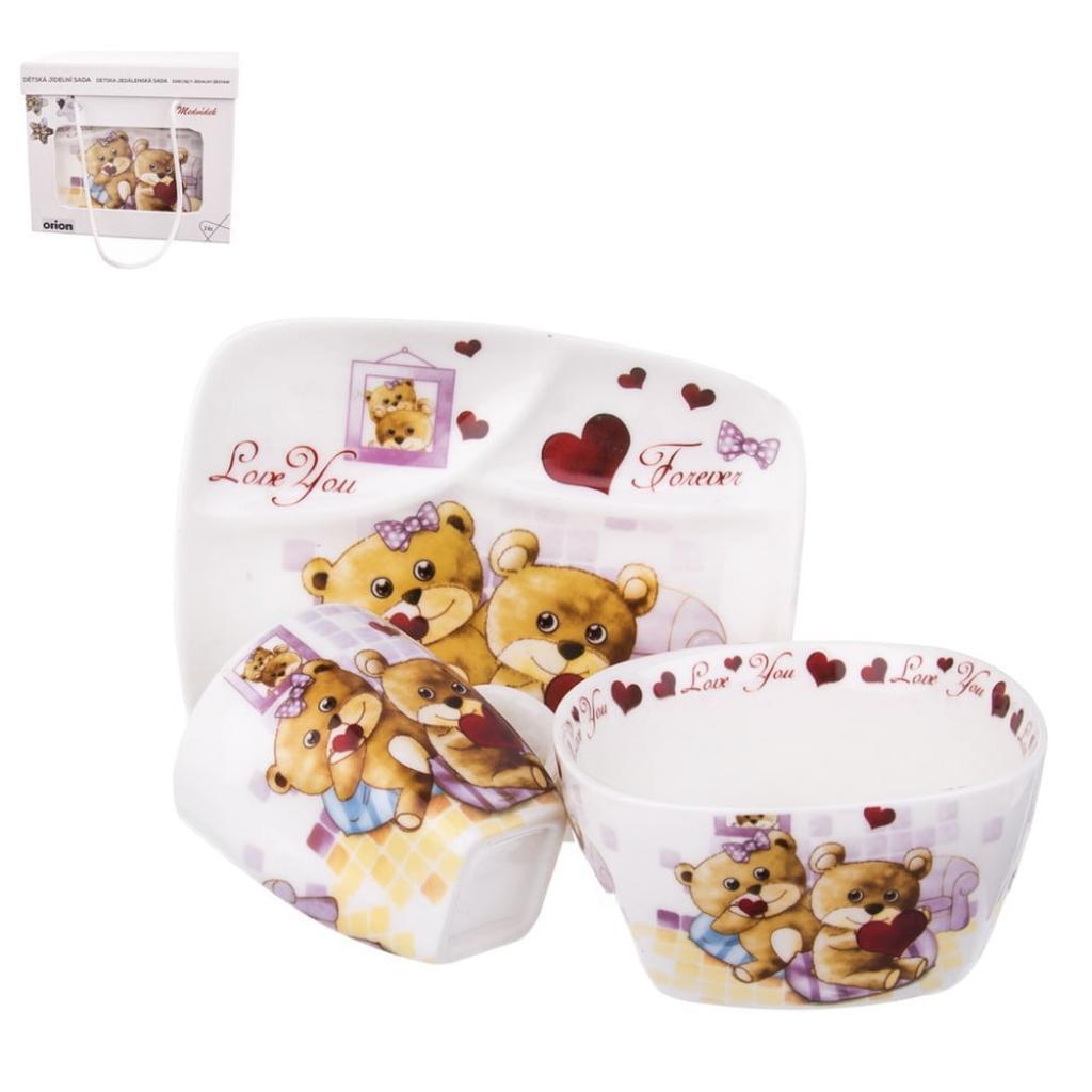 Produktové foto Set jídelního nádobí z porcelánu s motivem medvídků Orion