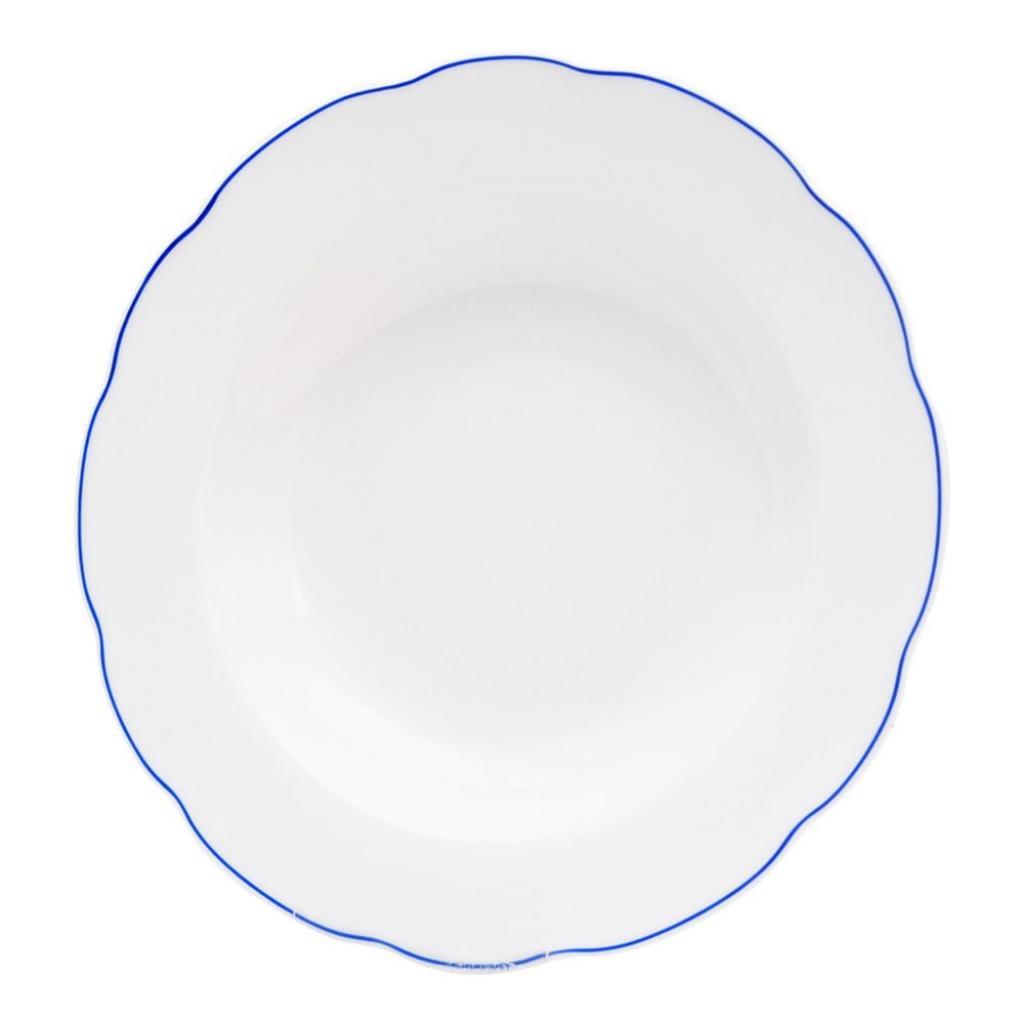 Produktové foto Bílý porcelánový hluboký talíř Orion Blue Line, ⌀21cm
