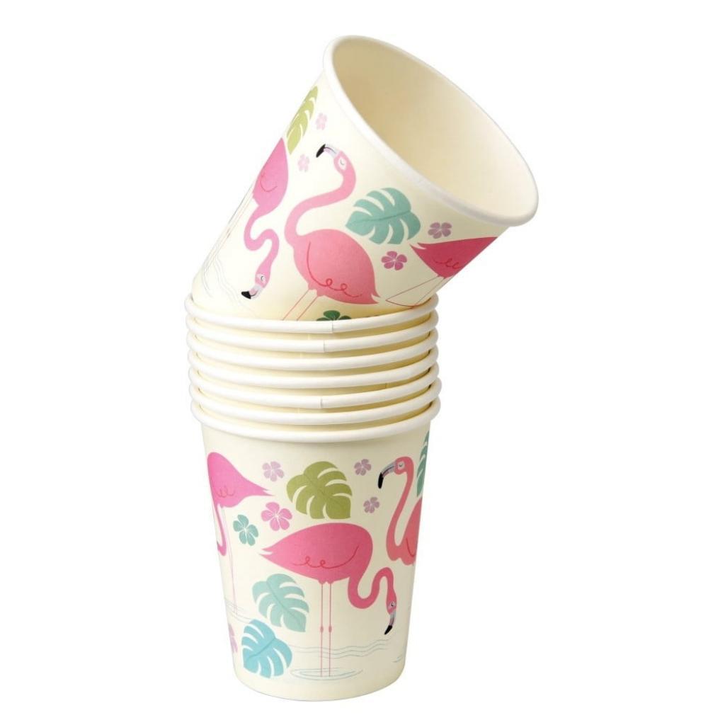 Produktové foto Sada 8 papírových kelímků Rex London Flamingo Bay, 250ml