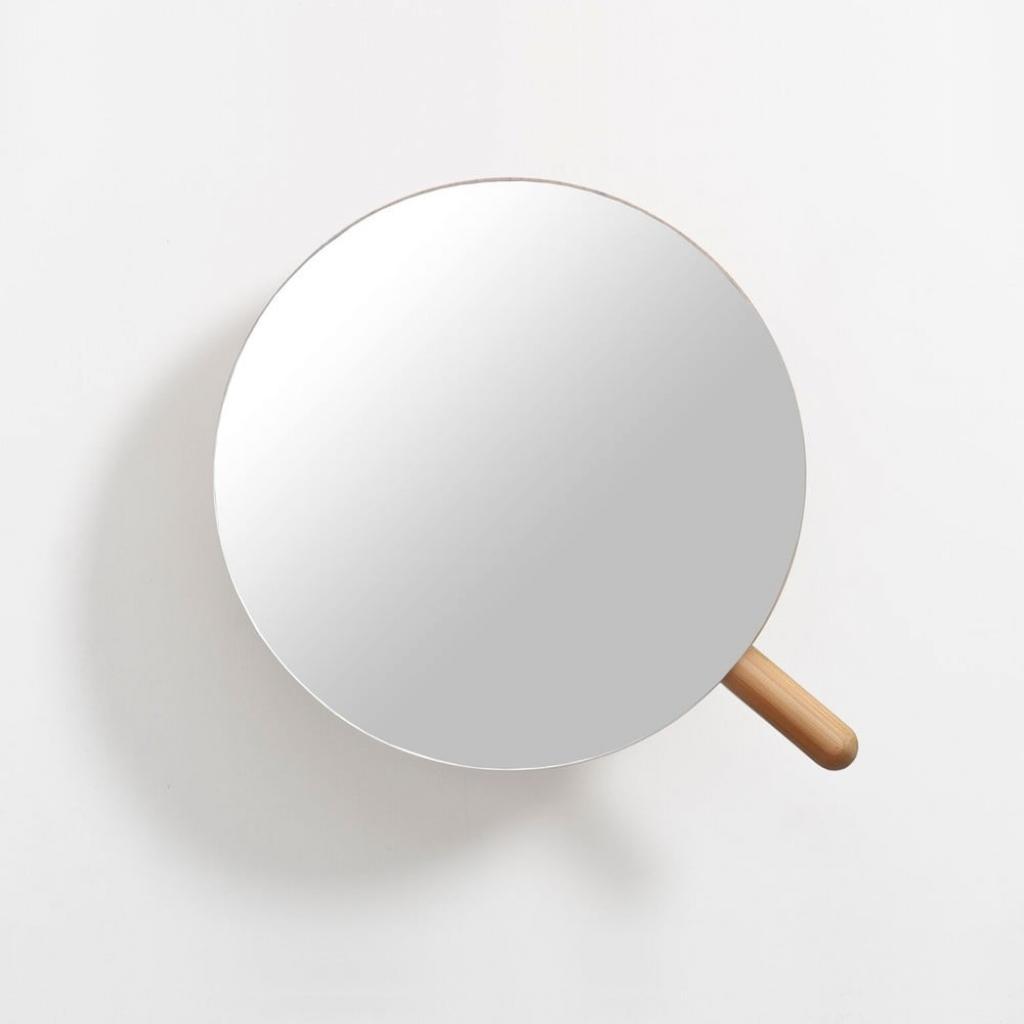 Produktové foto Nástěnné kosmetické zvětšovací zrcadlo zdubového dřeva Wireworks