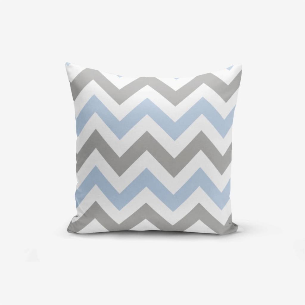 Produktové foto Povlak na polštář Minimalist Cushion Covers Zigzag Modern Blue, 45x45cm