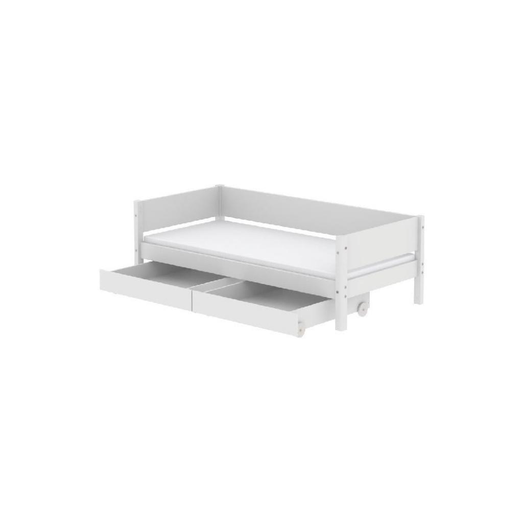 Produktové foto Bílá dětská postel se 2 zásuvkami Flexa White Single, 90x200cm