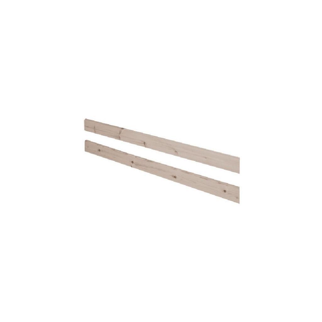 Produktové foto Hnědá bezpečnostní zábrana z borovicového dřeva k posteli Flexa Classic, délka197cm