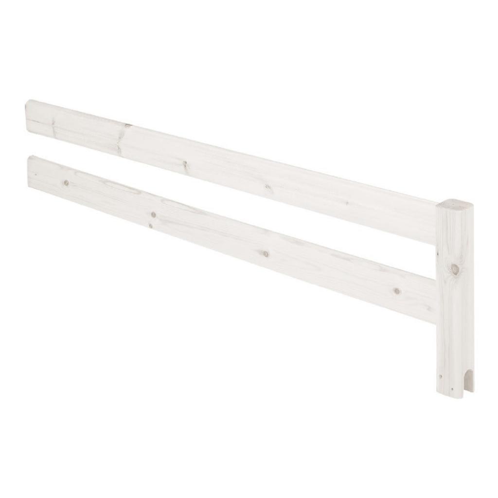 Produktové foto Bílá bezpečnostní zábrana z borovicového dřeva k posteli Flexa Classic, délka157cm