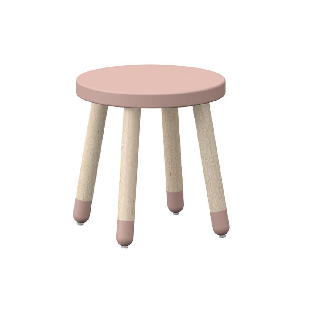 Produktové foto Růžová dětská stolička s nohami z jasanového dřeva Flexa Play, ø 30 cm