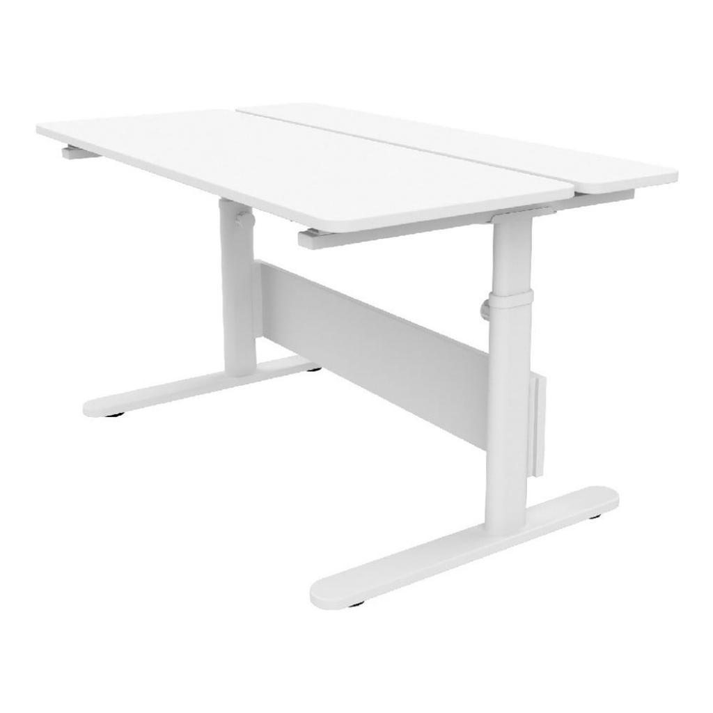 Produktové foto Bílý psací stůl s nastavitelnou výškou Flexa Evo Split