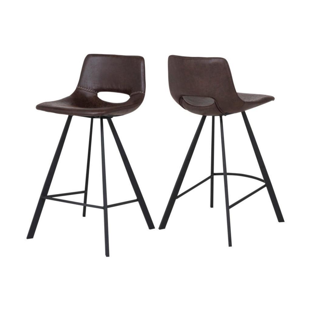 Produktové foto Tmavě hnědá barová židle Canett Coronas, výška87cm