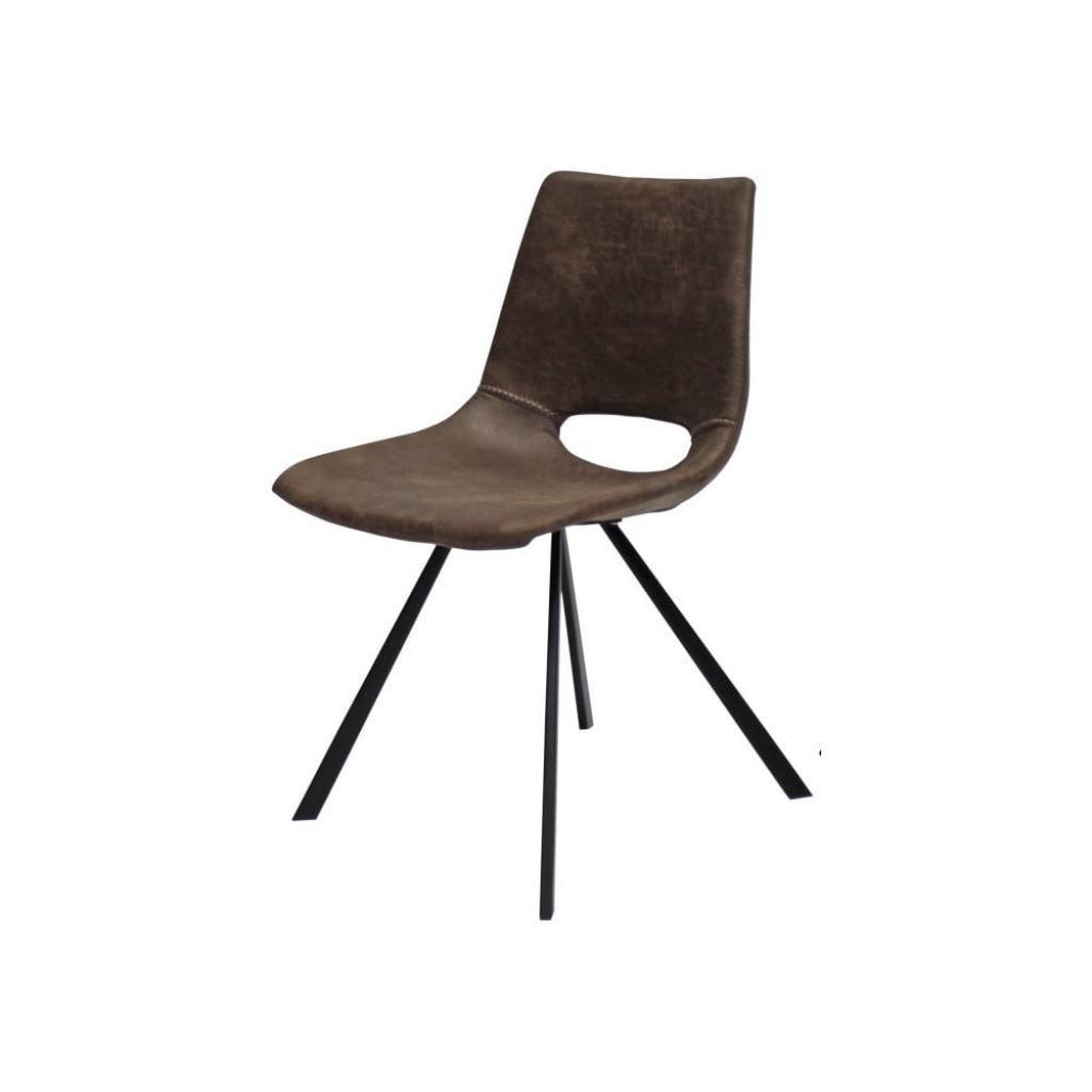 Produktové foto Světle hnědá jídelní židle s černým podnožím Canett Coronas