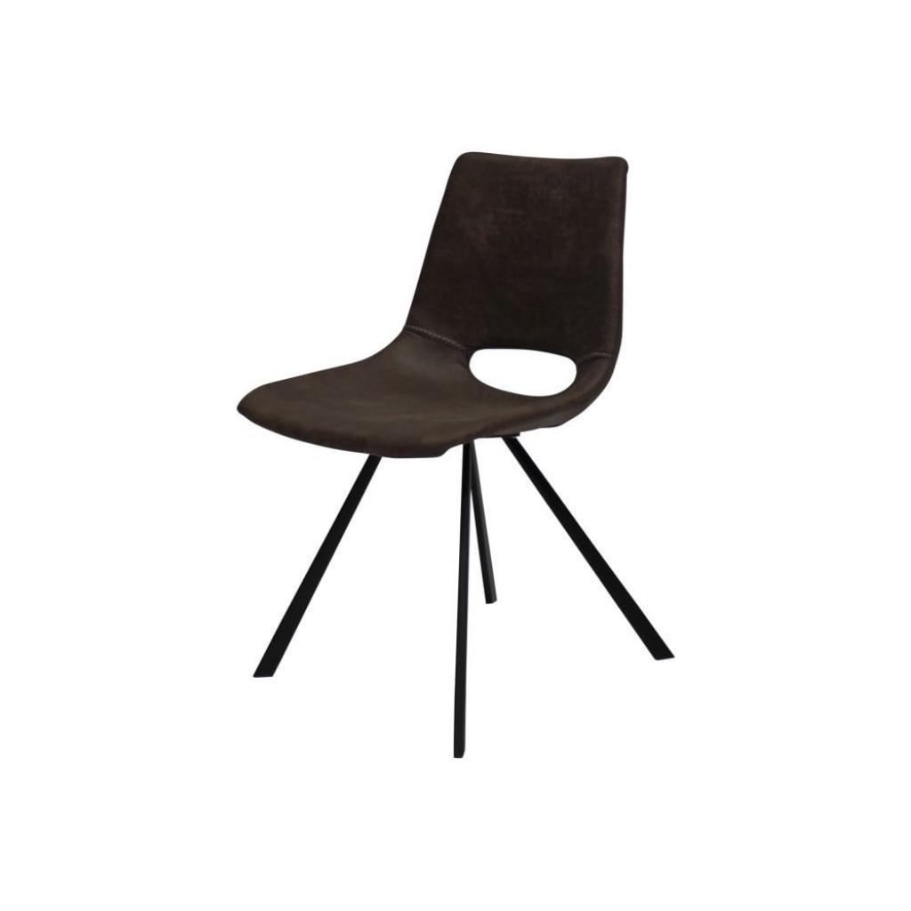 Produktové foto Hnědá jídelní židle s černým podnožím Canett Coronas