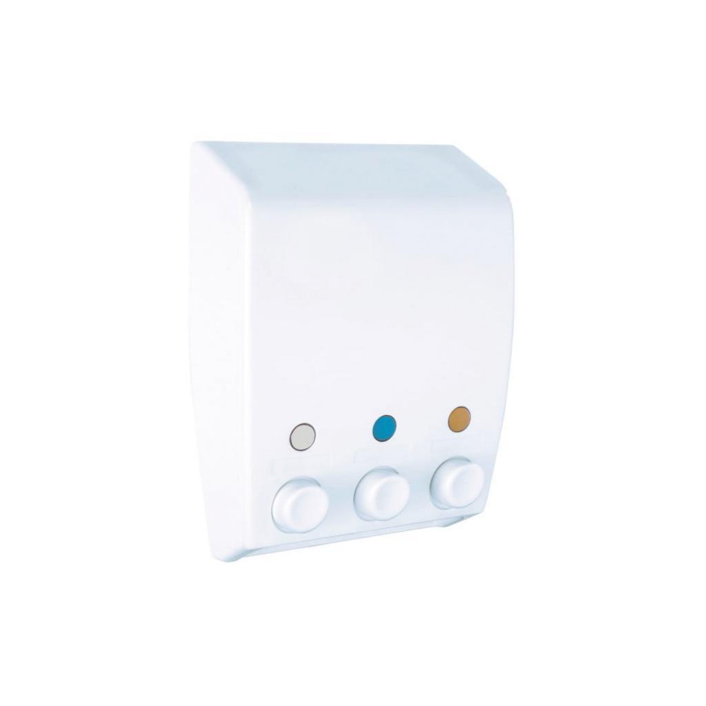 Produktové foto Bílý trojitý dávkovač tekutého mýdla Wenko Varese