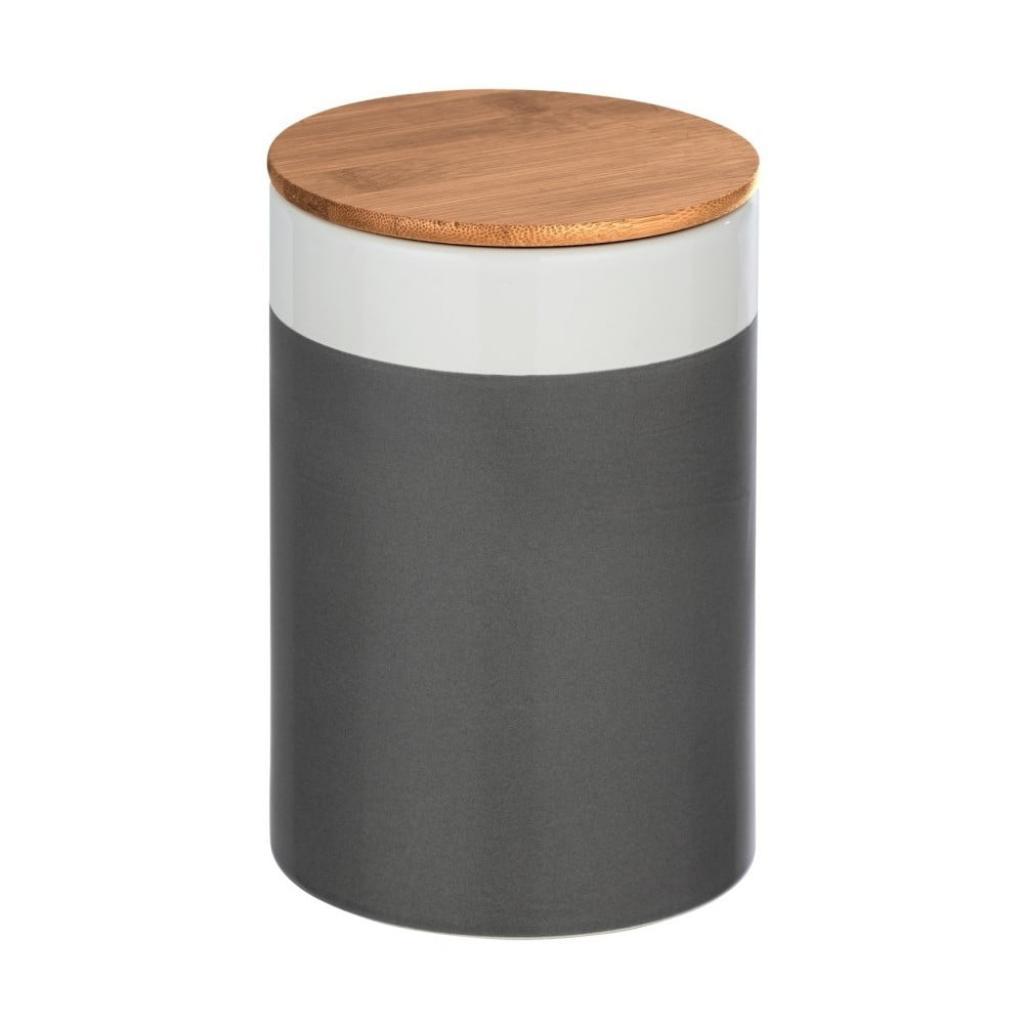 Produktové foto Keramický úložný box s bambusovým víkem Wenko Malta, 1,45l