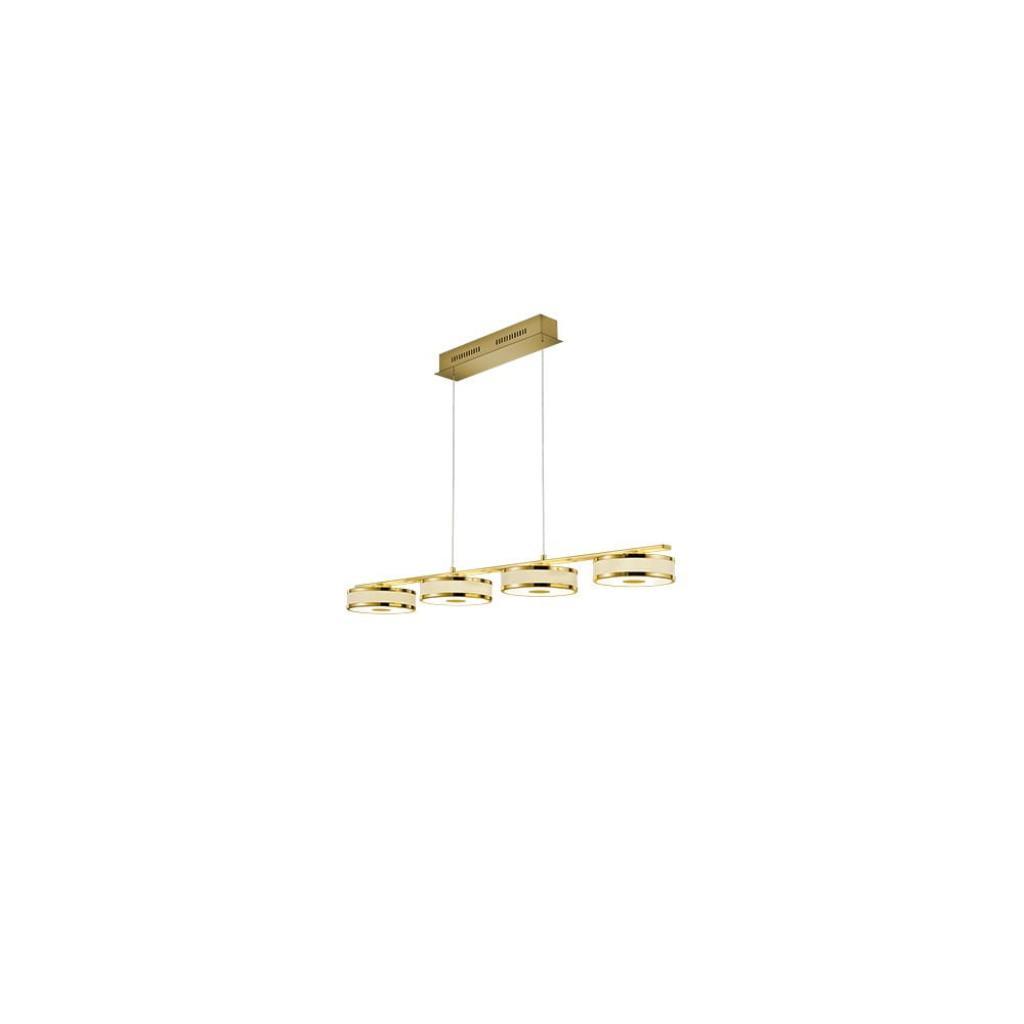 Produktové foto Závěsné LED svítidlo Trio Agento ve zlaté barvě, délka 1,15 m