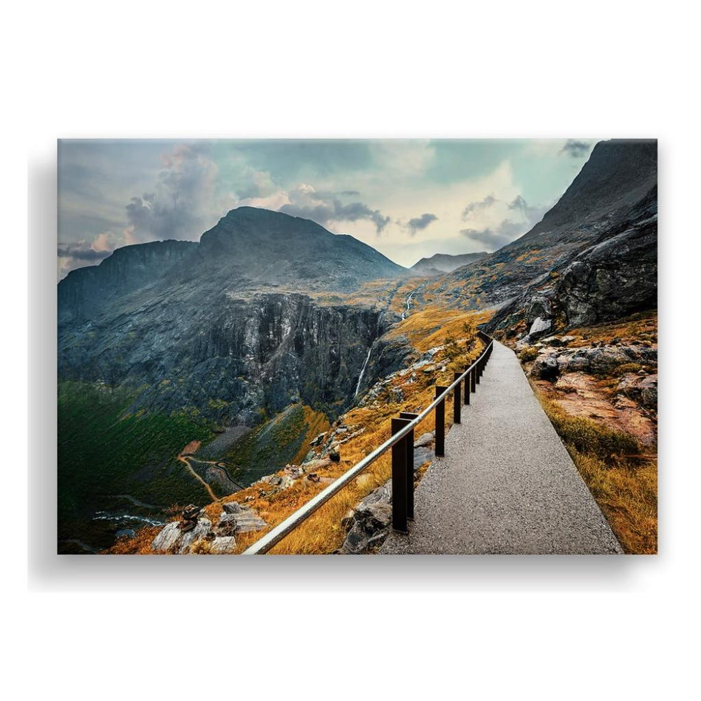 Produktové foto Obraz na plátně Styler Norway Mountains, 115 x 87 cm
