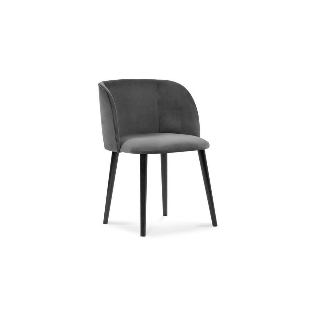 Produktové foto Tmavě šedá jídelní židle se sametovým potahem Windsor & Co Sofas Aurora