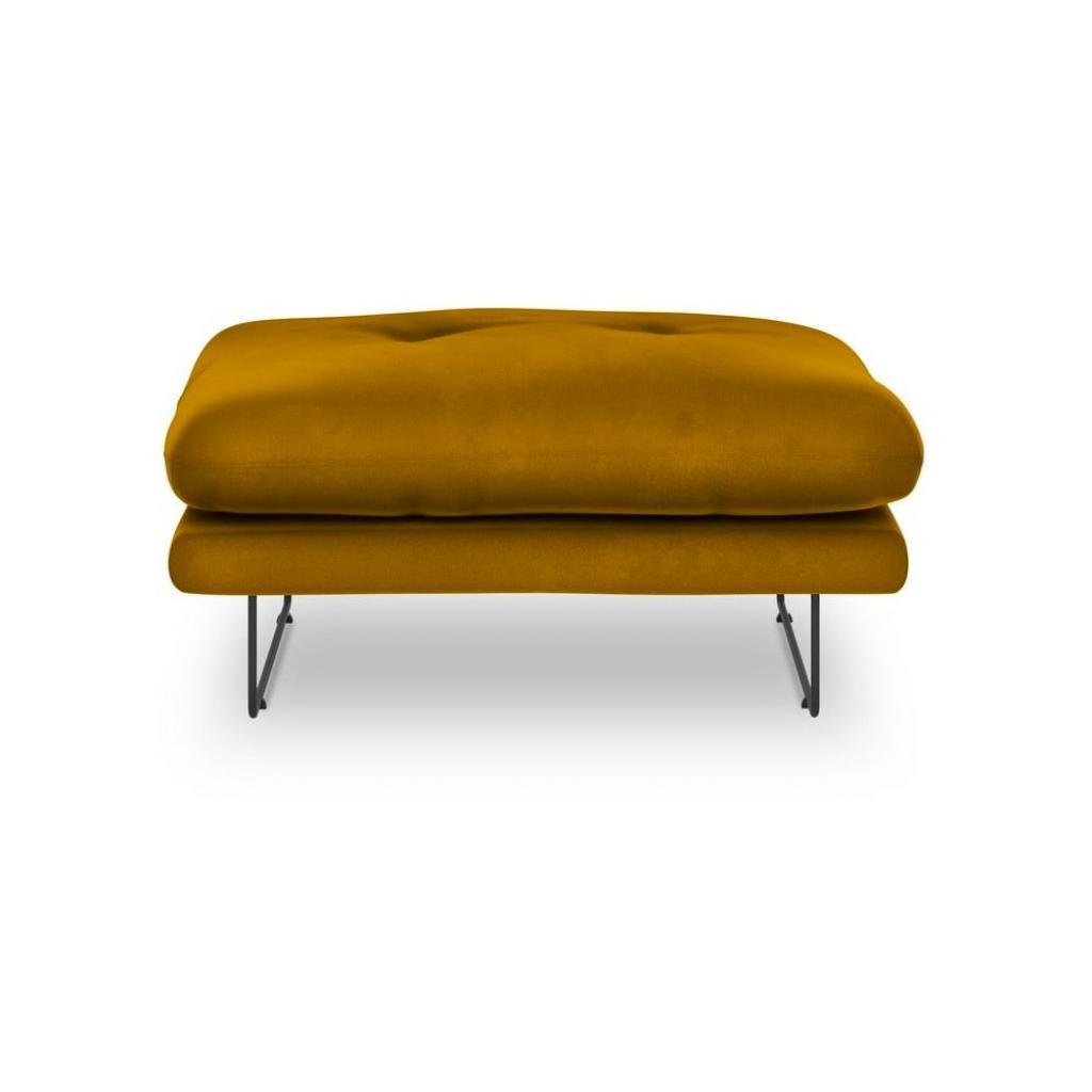 Produktové foto Žlutý puf se sametovým potahem Windsor & Co Sofas Gravity