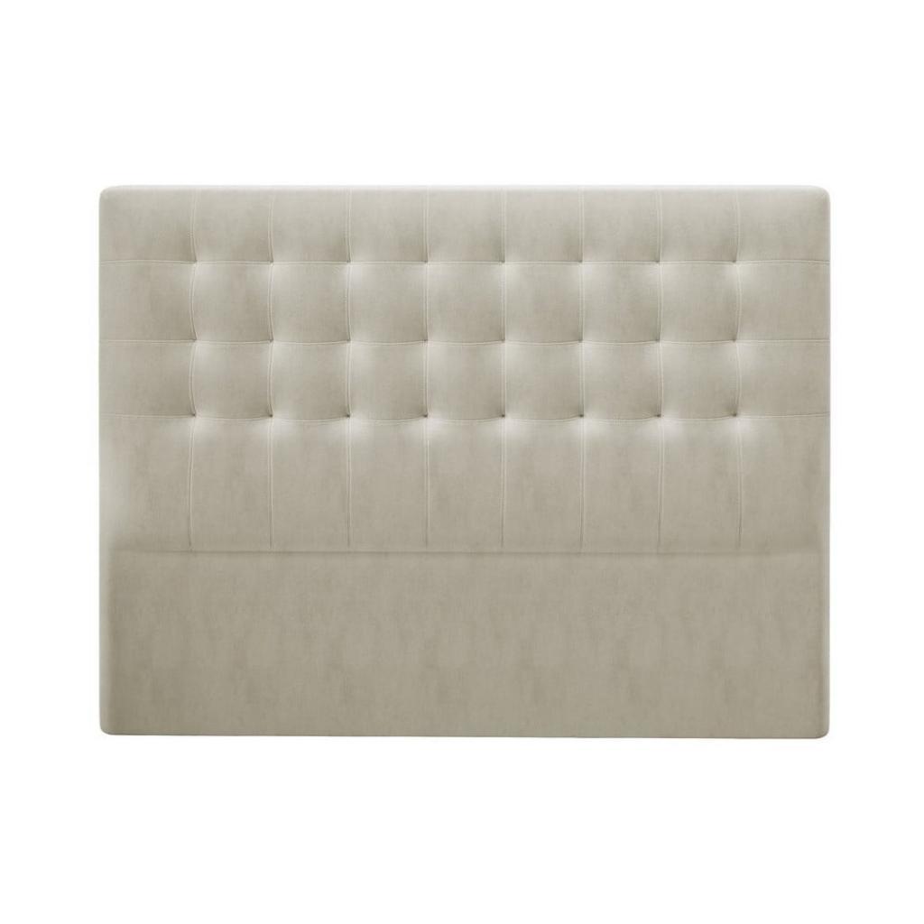 Produktové foto Béžové čelo postele se sametovým potahem Windsor & Co Sofas Athena, 160x120cm