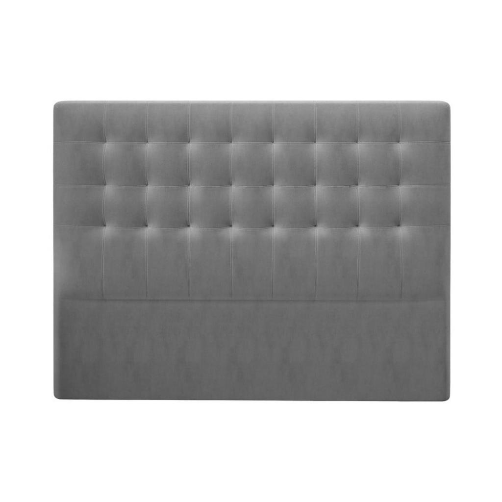 Produktové foto Šedé čelo postele se sametovým potahem Windsor & Co Sofas Athena, 200x120cm