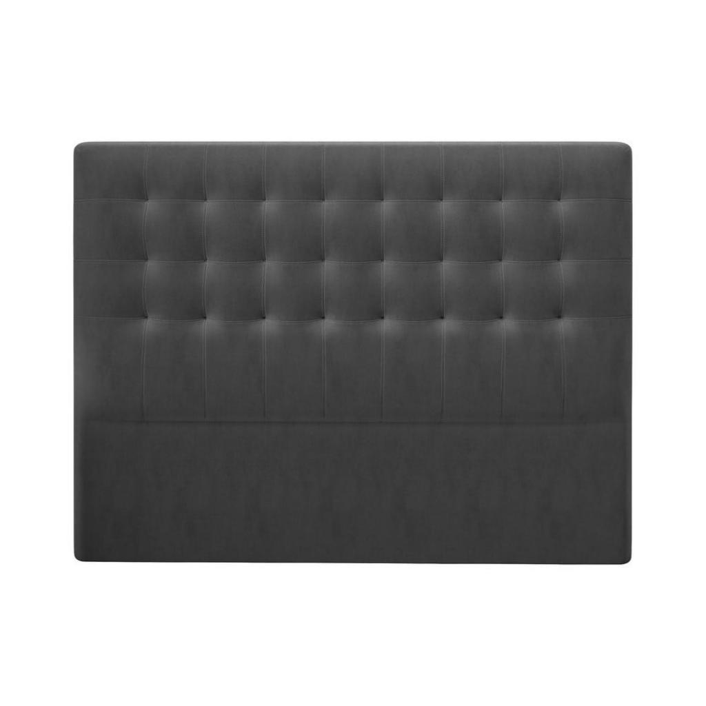 Produktové foto Tmavě šedé čelo postele se sametovým potahem Windsor & Co Sofas Athena, 180x120cm