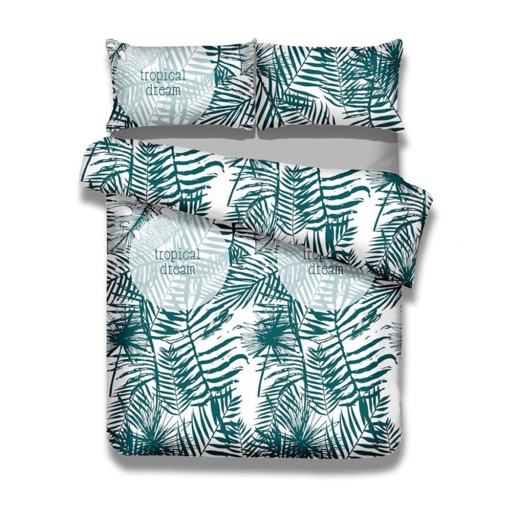 Produktové foto Sada 2 bavlněných povlaků na peřinu a 2 povlaků na polštáře AmeliaHome Averi Bush, 135 x 200 cm + 80 x 80 cm