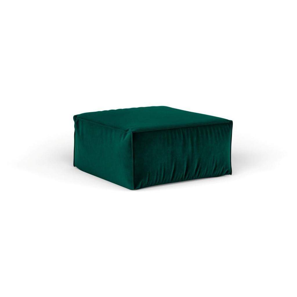 Produktové foto Tmavě zelený puf Cosmopolitan Design Florida, 65 x 65 cm