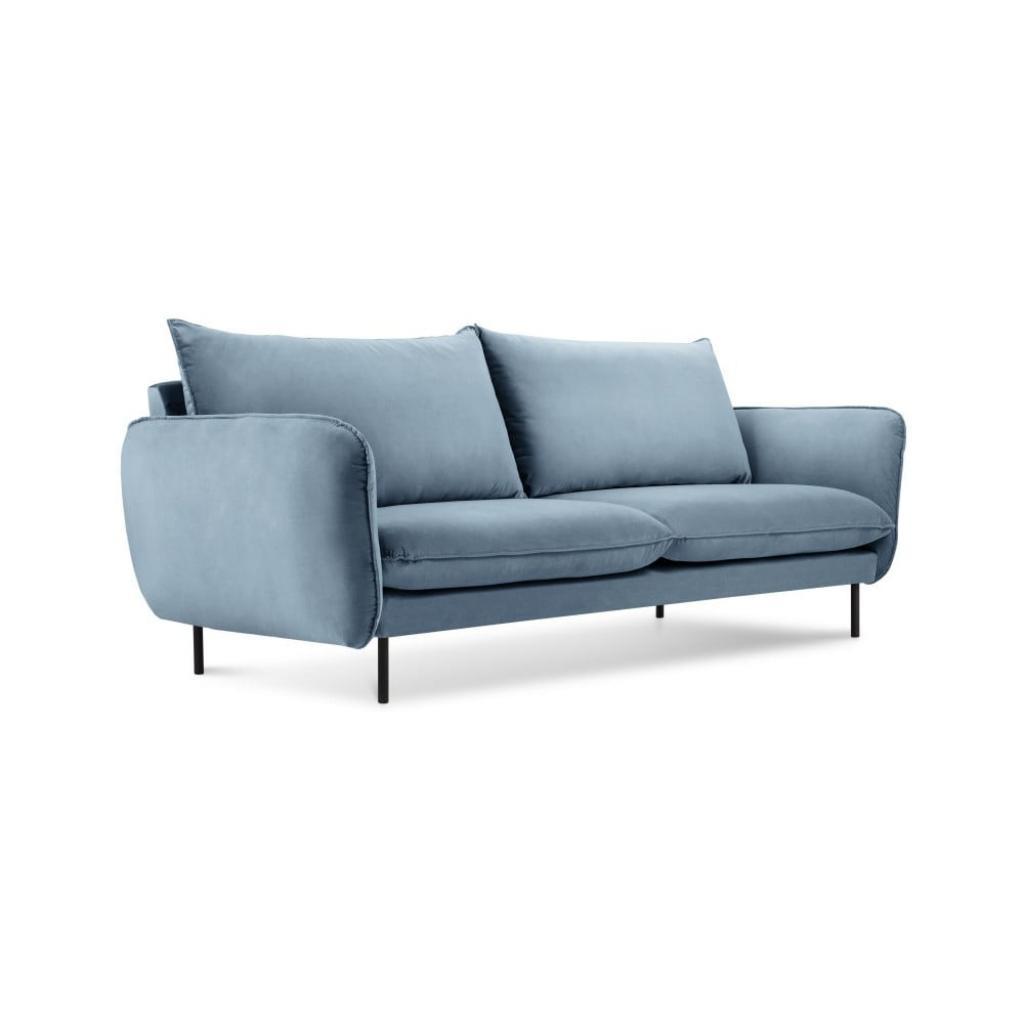 Produktové foto Světlé modrá sametová pohovka Cosmopolitan Design Vienna, 160 cm