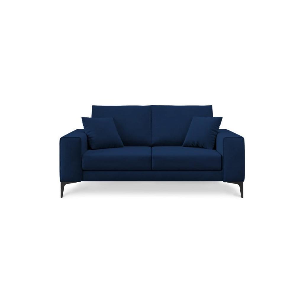 Produktové foto Tmavě modrá dvoumístná pohovka Cosmopolitan Design Lugano