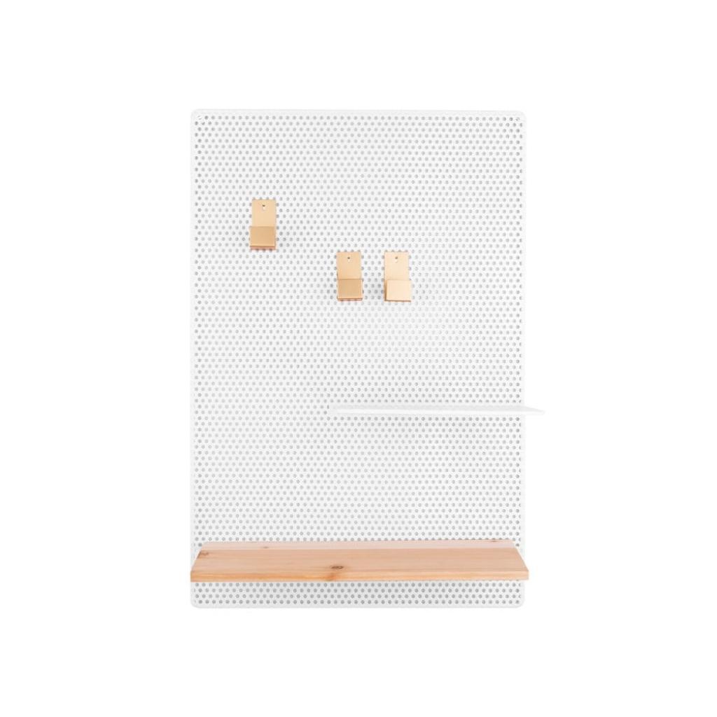 Produktové foto Bílá kovová nástěnka PT LIVING Perky, 34,5x52,5cm