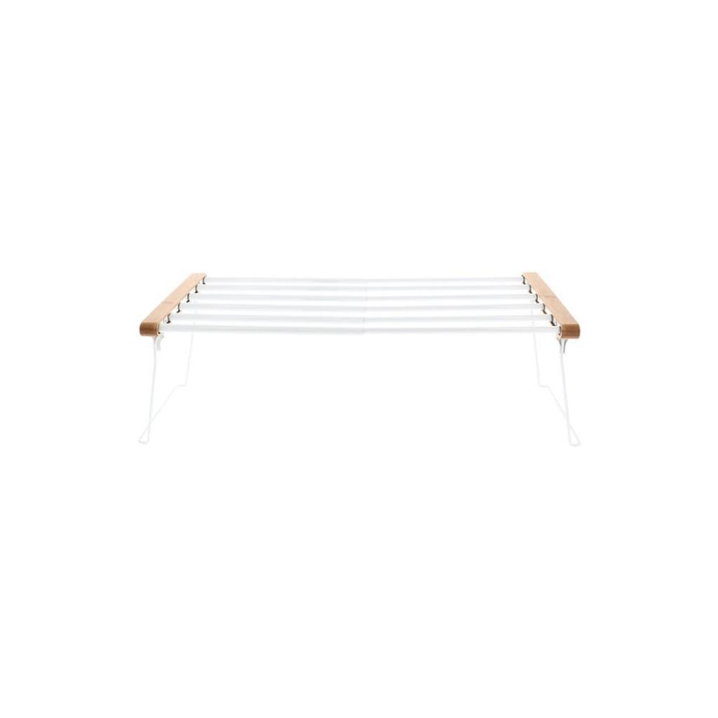Produktové foto Bílá nastavitelná polička do skříně na oblečení Compactor Extandable Shelf Rack