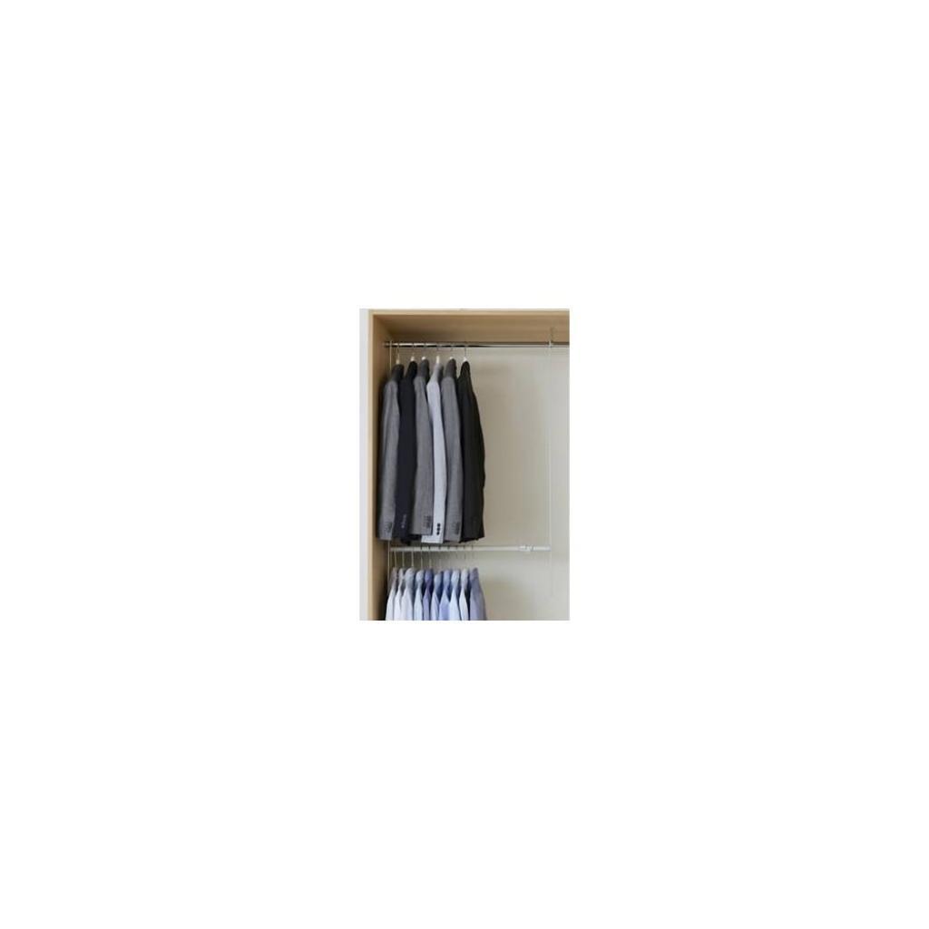 Produktové foto Bílá teleskopická tyč do skříně na oblečení Compactor Telescopic Garment Rail