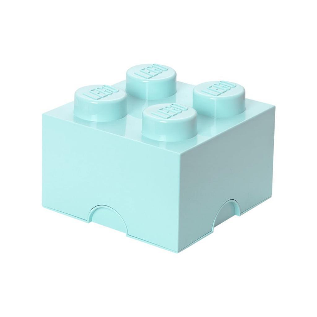 Produktové foto Světle modrý úložný box čtverec LEGO®