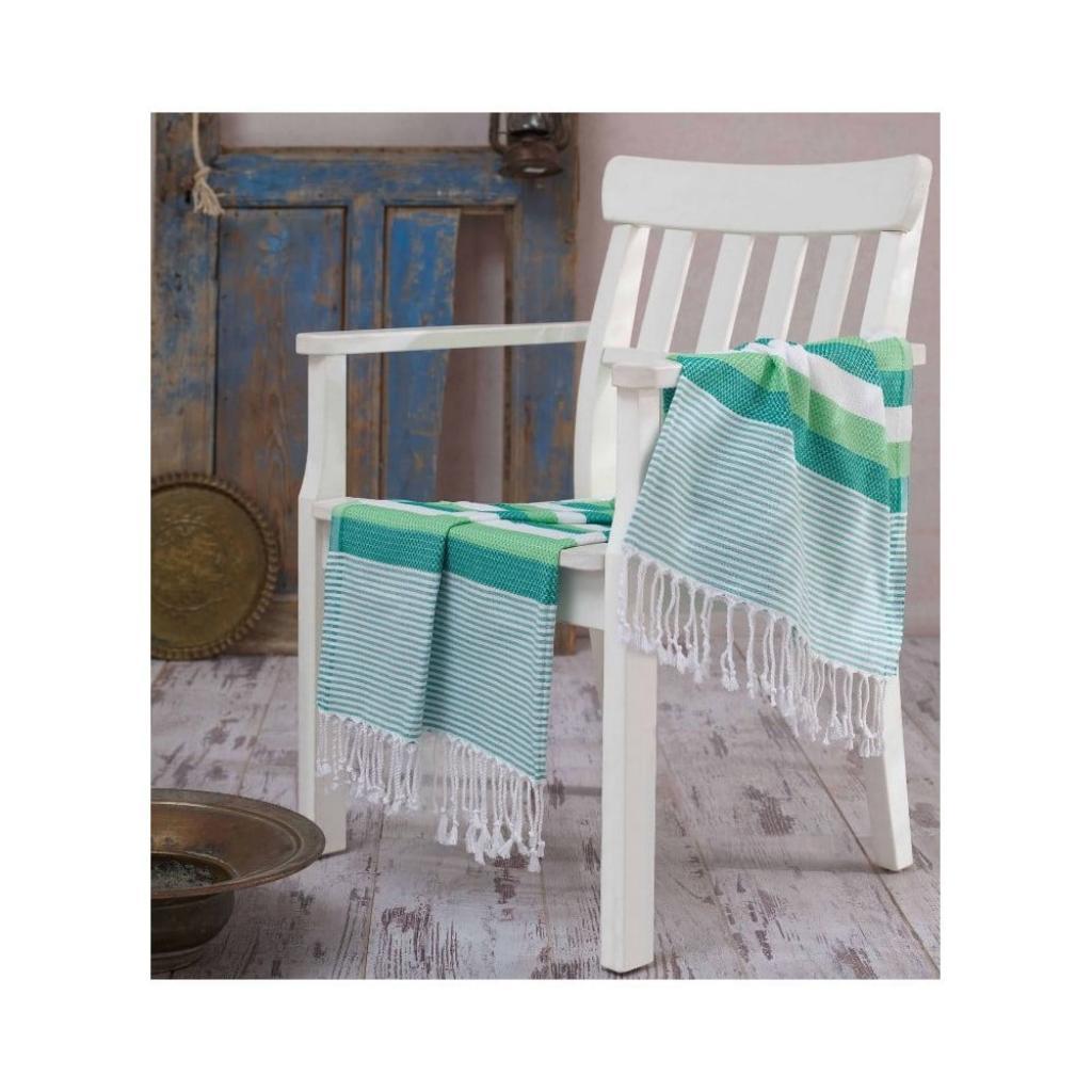 Produktové foto Zelená osuška Hammam Pamukkale Green, 100x180 cm