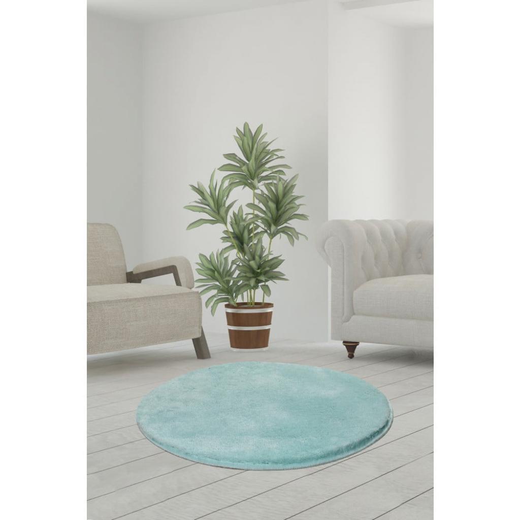 Produktové foto Světle tyrkysový koberec Milano, ⌀90cm