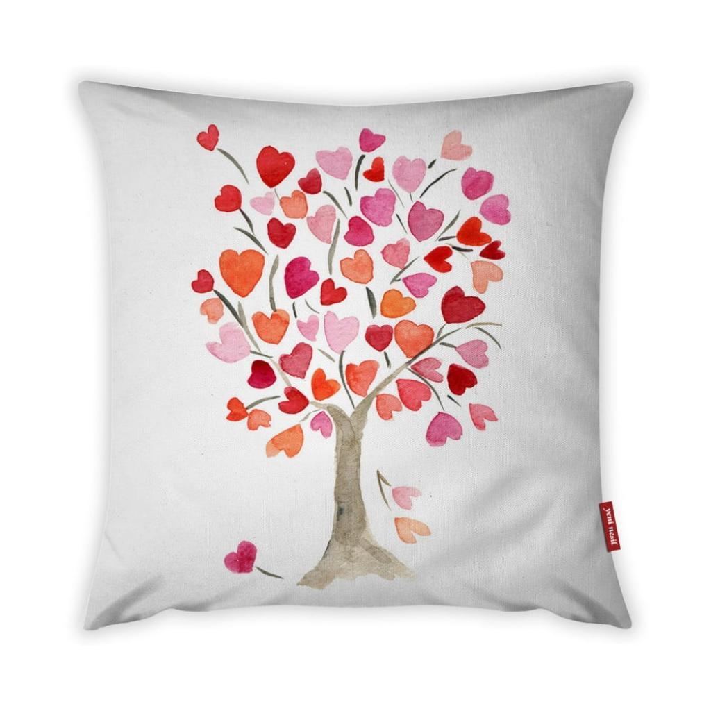 Produktové foto Povlak na polštář Vitaus Love Tree Rose, 43 x 43 cm