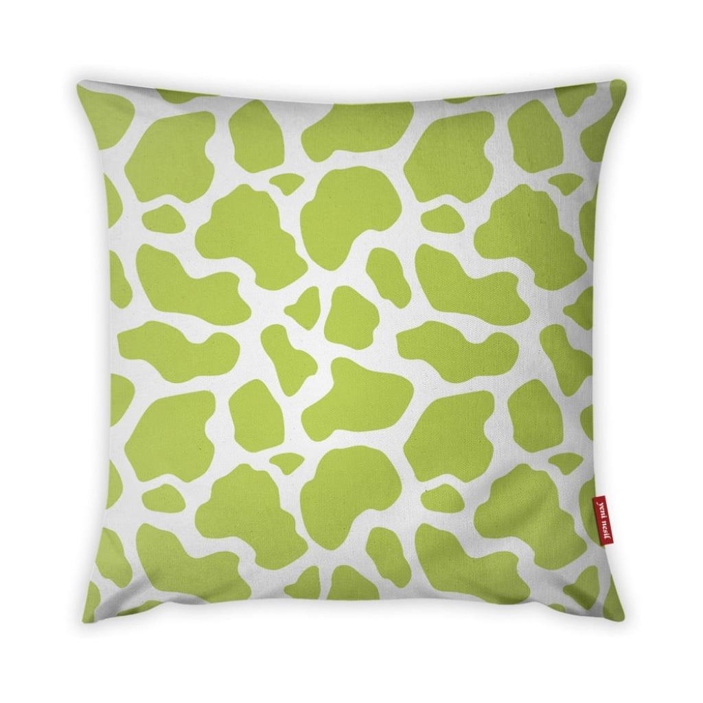 Produktové foto Limetkově zeleno-bílý povlak na polštář Vitaus Animal Print, 43 x 43 cm