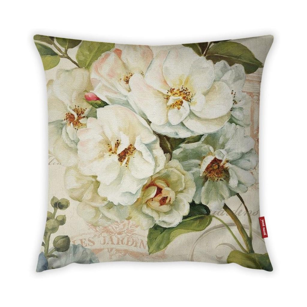 Produktové foto Povlak na polštář Vitaus Pure Flower, 43 x 43 cm