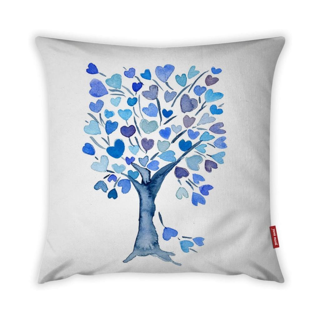 Produktové foto Povlak na polštář Vitaus Love Tree Azul, 43 x 43 cm