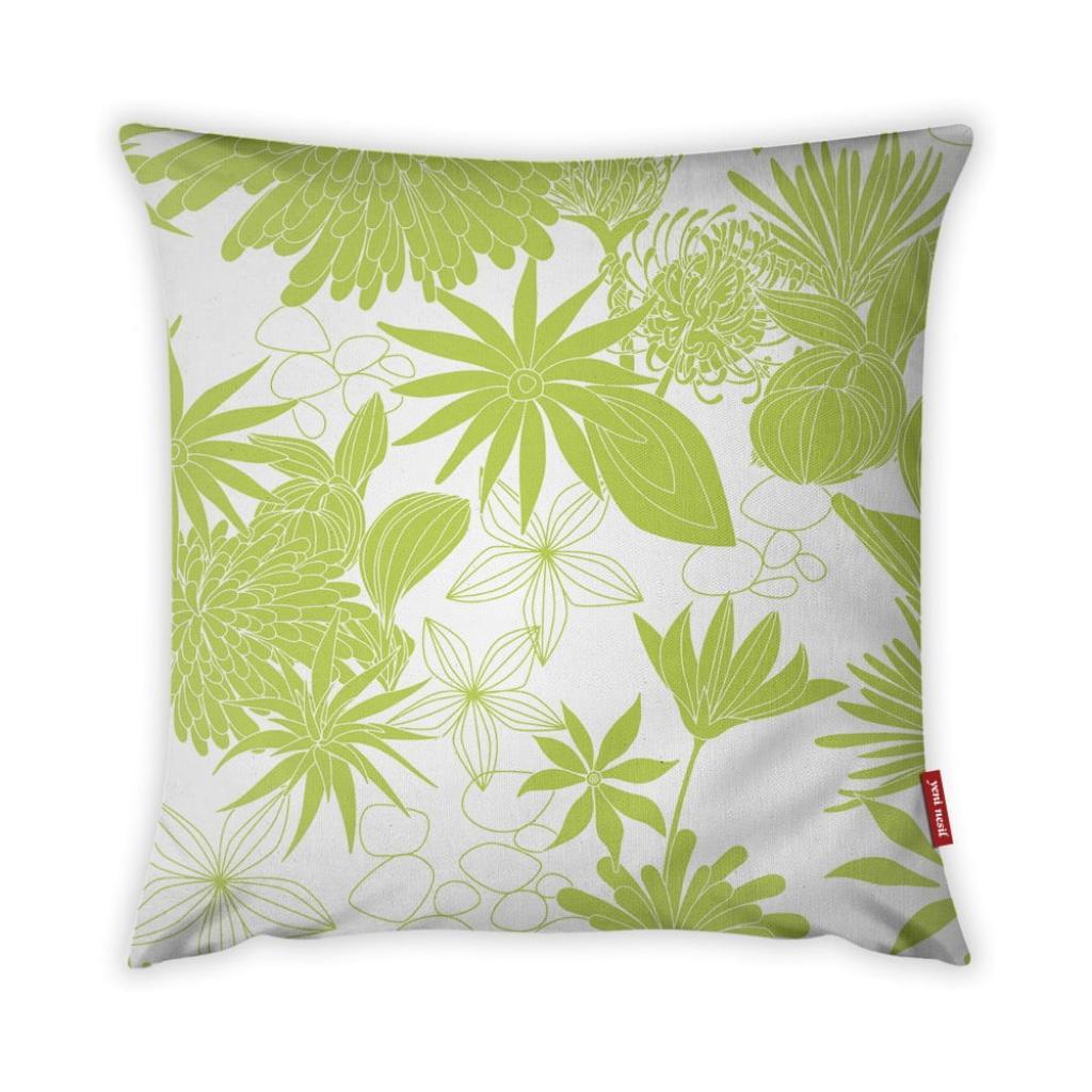 Produktové foto Limetkově zeleno-bílý povlak na polštář Vitaus Jungle Verde, 43 x 43 cm