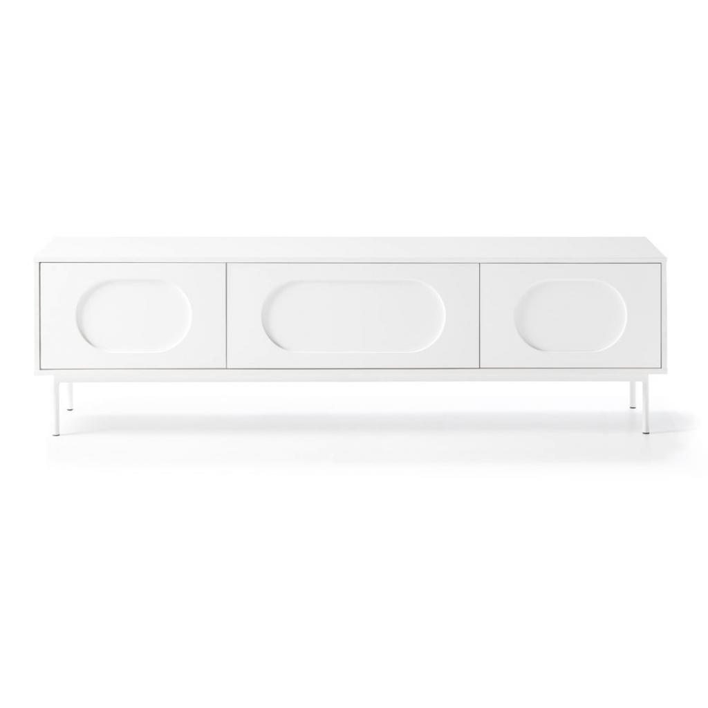 Produktové foto Bílý televizní stolek komoda Teulat Orbita