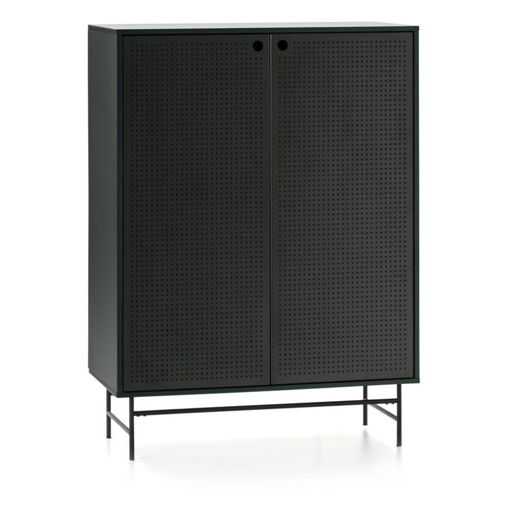 Produktové foto Černo-zelená skříňka Teulat Punto